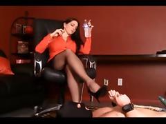 Horny Brunette, Foot Fetish sex clip