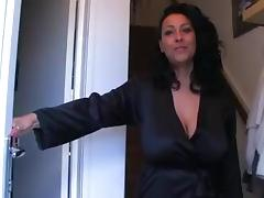 Aunt, Aunt, Big Tits, British, Mature, Spy