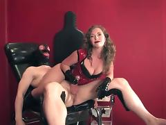 slaver handjob intercrural sex and assjob in pvc