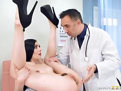 Doctor, Babe, Big Cock, Brunette, Deepthroat, Doctor