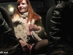 Backseat, Backseat, Car, Caught, Masturbation, Nude