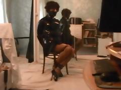 Kathy chair tied in ballet heels
