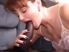 Husband films wife getting her creamy pussy filled !