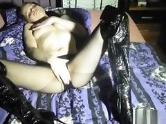Boots, Boots, Horny, Masturbation, Naughty, Nylon