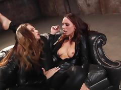 Asshole, Asshole, Fingering, Leather, Lesbian, Long Hair