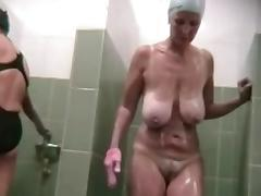Bathing, Bath, Bathing, Bathroom, Boobs, Mature