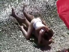 She didn't even undress for beach sex