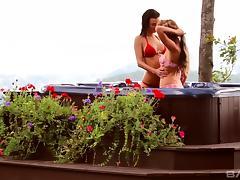 Bikini, Bikini, Fingering, Lesbian, Outdoor, Pool