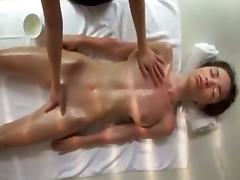 Crazy Homemade clip with Massage, Softcore scenes