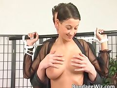 Bondage sex with hot girl and some crazy