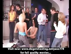 Amateur amazing sexy girls undressing and kissing on a party