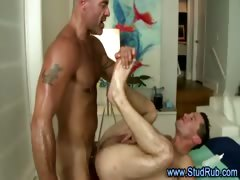 Mature gay guy fucks and sucks hot straight guy