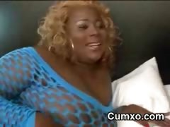 Black Afro Hot Chubby Slut Sucking BBC