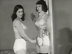 1950, Babe, Brunette, Classic, Fetish, Lesbian