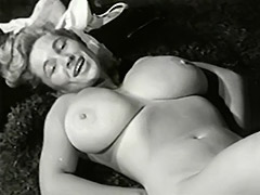 Enormous Tits Under Sexy White Lingerie 1950