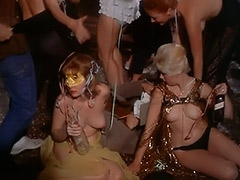 Topless Dancing at a Costume Party 1960