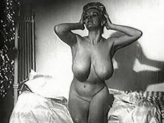 1950, Ass, Babe, BBW, Blonde, Classic