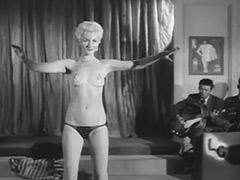 Seductive Blonde Performs a Striptease 1950