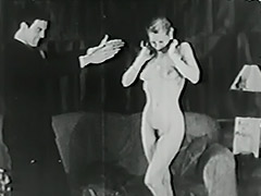 Magician Magically Makes Her Clothes Disappear 1940