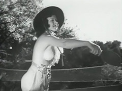 Group of Girls with Great Tits Playing Outdoors 1930