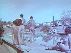 1950, Amateur, Blonde, Brunette, Classic, Hairy