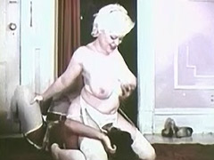 Sexy Black and White Interracial Cocktail 1960