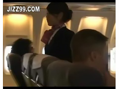 stewardess hard blowjob by plane geek