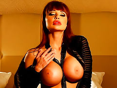 Glamorous bimbo Aletta Ocean huge tits