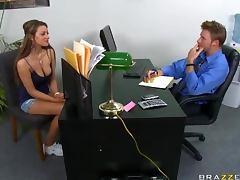 Busty Carmen McCarthy Titty Fucking In The Office