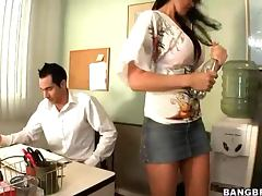 Busty Brunette Eva Karera Wants To Fuck Her Office Mate
