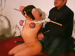 Tits tied and tortured in hot