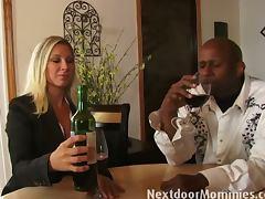 Champagne, Big Tits, Blonde, Blowjob, Champagne, Mature