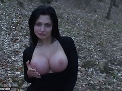 Forest fun with a smoking hot and busty Aletta Ocean