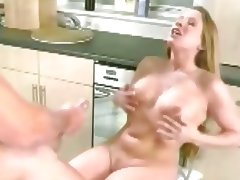 Chubby Longhaired British beauty gets a huge load