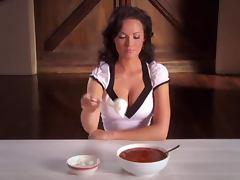 Dasha Astafieva advertises a Russian vodka with her naked body