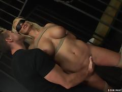 Stunning Winnie gets fucked deep and hard in a cage