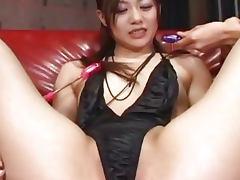 Cute Japanese babe toyed hard uncensored