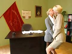 Blonde Office Lesbians video