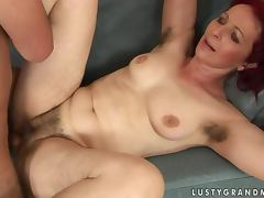 Debra gets her hairy pussy licked and fucked in missionary position