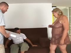 Fat granny fucks as if for the last time in her life
