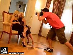 Backroom, Backroom, Fingering, Lesbian, Czech, Behind The Scenes