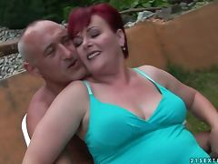 redhead grandma gets totally fucked