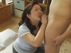 Asian BBW, Big Tits, Blowjob, Chubby, Couple, Handjob