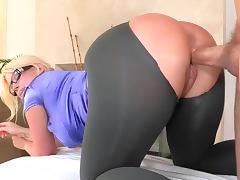 Big Ass, Big Ass, Blonde, Blowjob, Glasses, Money