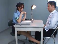 Japanese Policewoman Nanami Kawakami's Great Interrogating Skills