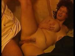 Two chubby babes in period piece gets drilled by two cocks