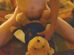 Fucking a Teddy bear