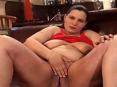 Pregnant brunette is ready to fuck