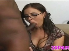 Naughty girl loves black