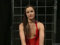 Ashley has some BDSM fun with sexy lesbian Kathia Nobili